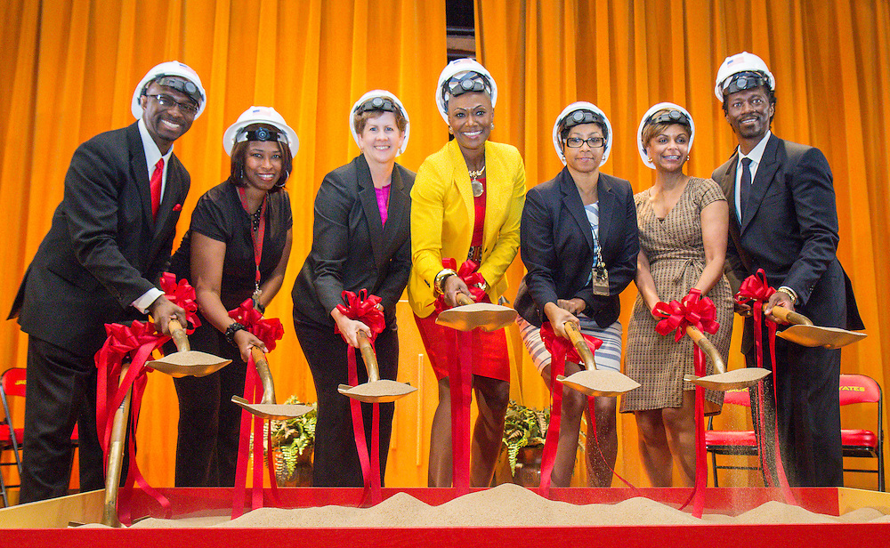 groundbreaking ceremony at Yates High School, June 2, 2016.
