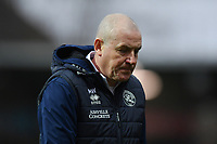 Football - 2019 / 2020 Sky Bet (EFL) Championship - Brentford vs. Queens Park Rangers<br /> <br /> Queens Park Rangers manager Mark Warburton dejected after their 3-1 defeat, at Griffin Park.<br /> <br /> COLORSPORT/ASHLEY WESTERN