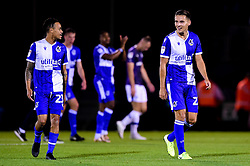 Josh Hare of Bristol Rovers and Kyle Bennett of Bristol Rovers after the final whistle of the match - Mandatory by-line: Ryan Hiscott/JMP - 20/08/2019 - FOOTBALL - Memorial Stadium - Bristol, England - Bristol Rovers v Tranmere Rovers - Sky Bet League One