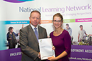 Ruth Makaraite who received a FETAC level 4 Certificate in Horticulture Science from Minister of State for Training & Skills at the department of Education and Science Ciaran Cannon TD at the National Learning Network, Galway Certification Ceremony at the Menlo Park Hotel. Photo:Andrew Downes.