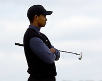 2005 Open Championship, St. Andrews.<br /> Thursday July 14th. 2005.<br /> Tiger Woods contemplates a missed birdie on 13th today, on his way to a 6 under par 66<br /> Foto: Digitalsport<br /> Norway only