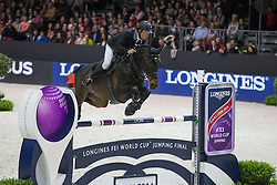 Petrovas Andrius (LTU) - Complemento<br /> Longines FEI World Cup™ Jumping Final 2013/2014<br /> Lyon 2014<br /> © Dirk Caremans