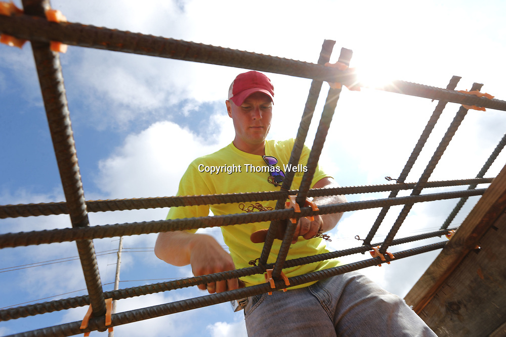 Southland Construction worker Brad McLaughlin begins helping construct sections of rebar that will be used or the footers of the Tupelo-Lee County Humane Society Animal Shelter that is under construction on Cliff Gookin Blvd. in Tupelo.