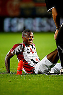 Onderwerp/Subject: Willem II - Jupiler League<br /> Reklame:  <br /> Club/Team/Country: <br /> Seizoen/Season: 2013/2014<br /> FOTO/PHOTO: Terell ONDAAN of Willem II is treated for his injury. (Photo by PICS UNITED)<br /> <br /> Trefwoorden/Keywords: <br /> #06 $94 &plusmn;1372506528100<br /> Photo- &amp; Copyrights &copy; PICS UNITED <br /> P.O. Box 7164 - 5605 BE  EINDHOVEN (THE NETHERLANDS) <br /> Phone +31 (0)40 296 28 00 <br /> Fax +31 (0) 40 248 47 43 <br /> http://www.pics-united.com <br /> e-mail : sales@pics-united.com (If you would like to raise any issues regarding any aspects of products / service of PICS UNITED) or <br /> e-mail : sales@pics-united.com   <br /> <br /> ATTENTIE: <br /> Publicatie ook bij aanbieding door derden is slechts toegestaan na verkregen toestemming van Pics United. <br /> VOLLEDIGE NAAMSVERMELDING IS VERPLICHT! (&copy; PICS UNITED/Naam Fotograaf, zie veld 4 van de bestandsinfo 'credits') <br /> ATTENTION:  <br /> &copy; Pics United. Reproduction/publication of this photo by any parties is only permitted after authorisation is sought and obtained from  PICS UNITED- THE NETHERLANDS