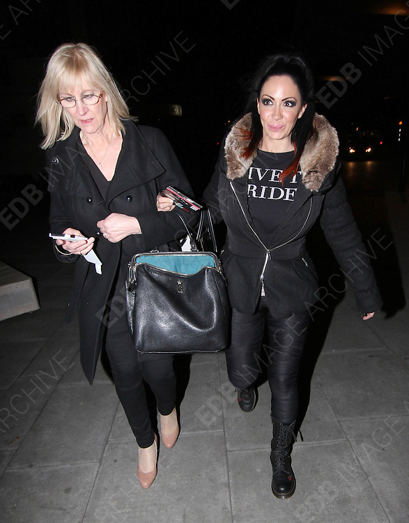 28.APRIL.2013. LONDON<br /> <br /> JODIE MARSH AND HER MOTHER KRISTINA SEEN LEAVING THE HAMMERSMITH APPOLLO IN LONDON AFTER WATCHING MICK HUCKNELL LIVE FOR ONE NIGHT ONLY.<br /> <br /> BYLINE: EDBIMAGEARCHIVE.CO.UK<br /> <br /> *THIS IMAGE IS STRICTLY FOR UK NEWSPAPERS AND MAGAZINES ONLY*<br /> *FOR WORLD WIDE SALES AND WEB USE PLEASE CONTACT EDBIMAGEARCHIVE - 0208 954 5968*