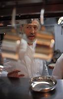 Pierre Gagnaire in his kitchen..© Owen Franken