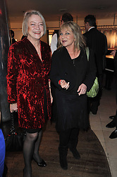 Left to right, KATE ADIE and HELEN LEDERER at the Costa Book Awards 2010 held at Quaglino's, 16 Bury Street, London on 25th January 2011.