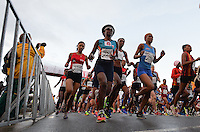 PORT ELIZABETH, SOUTH AFRICA - JULY 30: Sixaxa Siphamandla of WPA at the start during the SA Half Marathon Championships on July 30, 2016 in Port Elizabeth, South Africa. (Photo by Roger Sedres/Gallo Images)