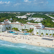 Aerial View of the hotel Playacar Palace. Playa del Carmen, Mexico.