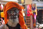 Holy man in Delhi, India