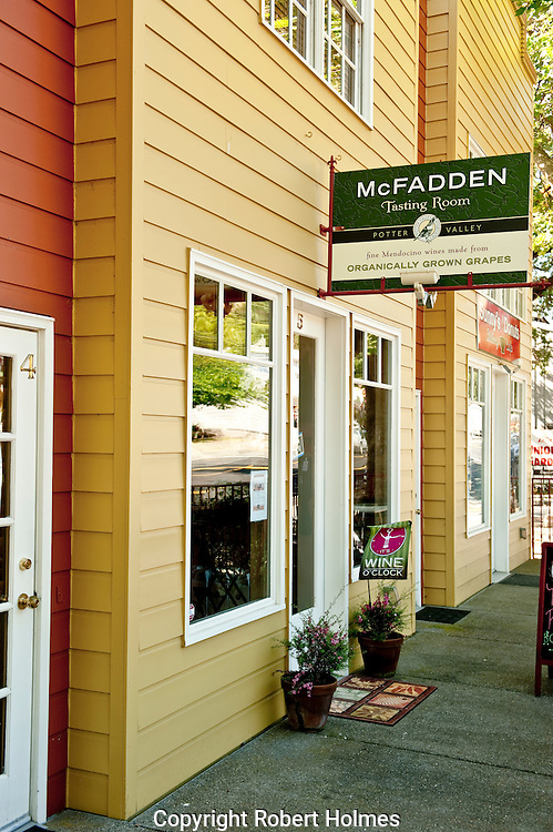 McFadden Winery tasting room, Hopland, Mendocino County, California