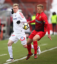 24.02.2018, BSFZ Arena, Maria Enzersdorf, AUT, 1. FBL, FC Flyeralarm Admira vs FK Austria Wien, 24. Runde, im Bild Kevin Friesenbichler (FK Austria Wien) und Jonathan Scherzer (FC Flyeralarm Admira) // during Austrian Bundesliga Football 24nd round match between FC Flyeralarm Admira vs FK Austria Wien at the BSFZ Arena, Maria Enzersdorf, Austria on 2018/02/24. EXPA Pictures © 2018, PhotoCredit: EXPA/ Thomas Haumer