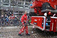 Ludwigshafen. 11.02.18 | <br /> 66. Traditioneller Fasnachtsumzug Mannheim-Ludwigshafen. Diesmal in Ludwigshafen.<br /> - Berufsfeuerwehr Ludwigshafen. 100 Jahre BF LU mit Handl&ouml;schkarre, Drehleiter, Firepocket, Fu&szlig;gruppe<br /> Bild: Markus Prosswitz 11FEB18 / masterpress (Bild ist honorarpflichtig - No Model Release!) <br /> BILD- ID 04374 |