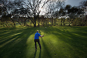 Ken Smith playing golf up in Cameron Park