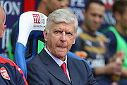 Arsenal Manager Arsene Wenger during the Barclays Premier League match between Crystal Palace and Arsenal at Selhurst Park, London, England on 16 August 2015. Photo by Phil Duncan.