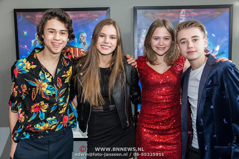 NLD/Utrecht/20190414 - Premiere Circus Noël, Samuel Beau Reurekas, Luna Wijnands en Nina Houston en Tommy van Lent