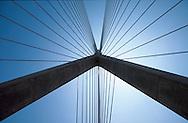 Boston; Zakim Bunker Hill Bridge; from below