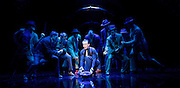 Guys and Dolls<br /> by Damon Runyon / Frank Loesser<br /> at The Savoy Theatre, London, Great Britain <br /> press photocall<br /> 4th January 2016 <br /> <br /> Jamie Parker as Sky Masterson <br /> ensemble<br /> <br /> <br /> Photograph by Elliott Franks <br /> Image licensed to Elliott Franks Photography Services