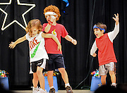 "10/23/09  -  Atlanta, Ga :  Students at Sagamore Hills Elementary School, including ""Olympians"" Jose Heming, Evan Kupersmith, Armand Kardaslar, Chris young, Ryan Carney and Grayson Carney,  perform their skits during the 2009 talent show featuring dance, music, comedy and other performances for the annual Showcase of Stars on Friday, October 23, 2009. Director Nancy Briggs, and assistant directors Joe Scivicque and Teresa Libbey helped produce more than 30 acts.    David Tulis         dtulis@gmail.com    ©David Tulis 2009"