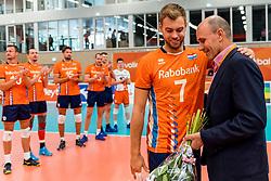 08-09-2018 NED: Netherlands - Argentina, Ede<br /> Second match of Gelderland Cup / Gijs Jorna #7 of Netherlands, Michel Everaert