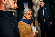 Massimo D'Alema, accompagnato dalla sua scorta, entra a Palazzo San Macuto. Roma 16 november 2017. Christian Mantuano / OneShot<br /> <br /> Massimo D'Alema with his security people enters Palazzo San Macuto. Rome 16 November 2017. Christian Mantuano / OneShot