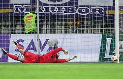 Marko Obradovic of Maribor during 2nd Leg football match between NK Maribor and ND Gorica in Quarterfinals of Slovenian Cup 2016/17, on October 26, 2016 in Stadium Ljudski vrt, Maribor, Slovenia. Photo by Vid Ponikvar / Sportida