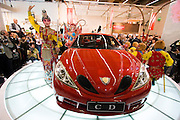 The 61. IAA (Internationale Autoausstellung) 2005 is one of the World's biggest trade fairs of the automotive industry..Unveiling of Geely CD, one of the first Chinese cars to be marketed internationally.