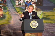 - Omaha, NE.  5/12/2003.  President George Bush makes a speech to pitch his new economic plan at Airlite Plastics in Omaha, Neb (Chris Machian/Prairie Pixel Group)