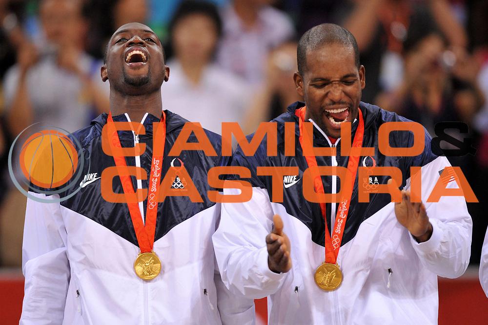 DESCRIZIONE : Beijing Pechino Olympic Games Olimpiadi 2008 Final Gold Medal 1-2 posto place Spain Usa <br /> GIOCATORE : Dwyane Wade Michael Redd <br /> SQUADRA : Usa <br /> EVENTO : Olympic Games Olimpiadi 2008 <br /> GARA : Spagna Usa <br /> DATA : 24/08/2008 <br /> CATEGORIA : Ritratto Esultanza Premiazione <br /> SPORT : Pallacanestro <br /> AUTORE : Agenzia Ciamillo-Castoria/E.Castoria <br /> Galleria : Beijing Pechino Olympic Games Olimpiadi 2008 <br /> Fotonotizia : Beijing Pechino Olympic Games Olimpiadi 2008 Final Gold Medal 1-2 posto place Spain Usa <br /> Predefinita :