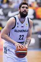 Slovenia Ziga Dimec during FIBA European Qualifiers to World Cup 2019 between Spain and Slovenia at Coliseum Burgos in Madrid, Spain. November 26, 2017. (ALTERPHOTOS/Borja B.Hojas)