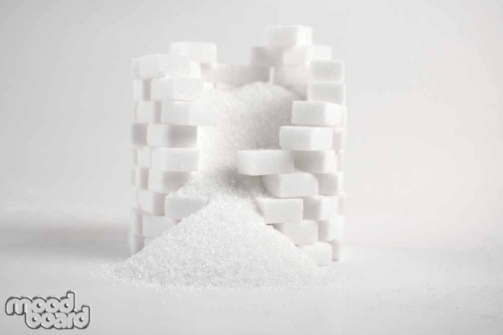 Lump sugar - close up