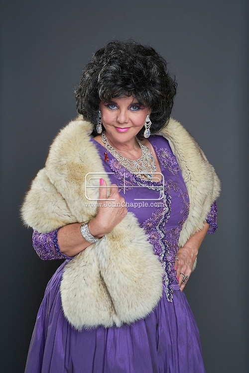 February 22, 2016. Las Vegas, Nevada.  The 22nd Reel Awards and Tribute Artist Convention in Las Vegas. Celebrity lookalikes from all over the world gathered at the Golden Nugget Hotel for the annual event. Pictured is  Liz Taylor lookalike, Dianne Wagner.<br /> Copyright John Chapple / www.JohnChapple.com /