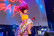 Jillian Hervey of the band Lion Babe performs during Summer Spirit Festival 2018 at Merriweather Post Pavilion in Columbia, MD on Saturday, August 4, 2018.