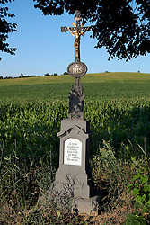 CZECH REPUBLIC VYSOCINA NEDVEZI 31JUL15 - Cross by the roadside near the village of Nedvezi, Vysocina, Czech Republic.<br /> <br /> <br /> jre/Photo by Jiri Rezac<br /> <br /> <br /> <br /> © Jiri Rezac 2015