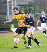 Livingston's Maurice Ross and Dundee's Gavin Rae - Dundee v Livingston, IRN BRU Scottish Football League, First Division at Dens Park - ..© David Young - .5 Foundry Place - .Monifieth - .Angus - .DD5 4BB - .Tel: 07765 252616 - .email: davidyoungphoto@gmail.com.web: www.davidyoungphoto.co.uk