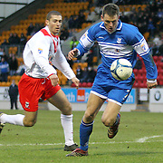 St Johnstone's Martin Hardie in action in the Scottish First Division match against Airdrie Utd played at Mc Diarmid Park 20th January 2007.
