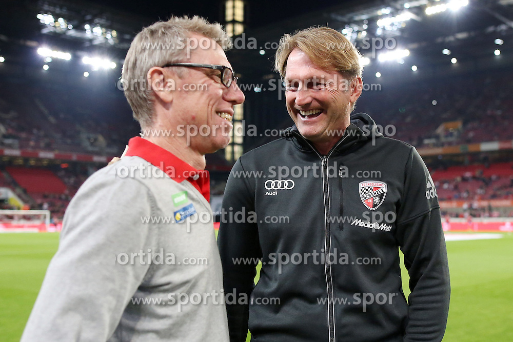 25.09.2015, Rhein Energie Stadion, Koeln, GER, 1. FBL, 1. FC Koeln vs FC Ingolstadt 04, 7. Runde, im Bild Trainer Ralph Hasenhuettl (FC Ingolstadt) und Trainer Peter Stoeger (1. FC Koeln) // during the German Bundesliga 7th round match between 1. FC Cologne and FC Ingolstadt 04 at the Rhein Energie Stadion in Koeln, Germany on 2015/09/25. EXPA Pictures &copy; 2015, PhotoCredit: EXPA/ Eibner-Pressefoto/ Schueler<br /> <br /> *****ATTENTION - OUT of GER*****