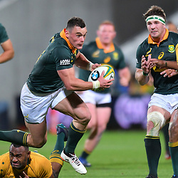 Jesse Kriel of South Africa beats Tevita Kuridrani of Australia