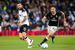 Bradley Johnson of Derby County takes on Aleksandar Mitrovic of Fulham - Mandatory by-line: Robbie Stephenson/JMP - 11/05/2018 - FOOTBALL - Pride Park Stadium - Derby, England - Derby County v Fulham - Sky Bet Championship