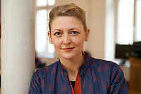 16 FEB 2012, BERLIN/GERMANY:<br /> Stephanie Hankey, Co--Founder und Executive Director, Tactical Technology Collective, in Ihrem Buero, Tactical Technology Collective<br /> IMAGE: 20120216-01-019