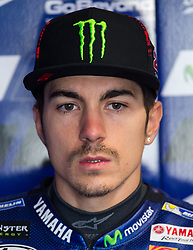 October 21, 2017 - Melbourne, Victoria, Australia - Spanish rider Maverick Viñales (#25) of Movistar Yamaha MotoGP in his garage before during the third free practice session at the 2017 Australian MotoGP at Phillip Island, Australia. (Credit Image: © Theo Karanikos via ZUMA Wire)
