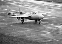 Irish Air Corps de Havilland Vampire Jet at Casement Aerodome, 11/09/1975 (Part of the Independent Newspapers Ireland/NLI Collection).