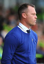 Newport County manager Michael Flynn - Mandatory by-line: NizaamJones/JMP- 14/10/2017 - FOOTBALL - New Lawn Stadium - Nailsworth, England - Forest Green Rovers v Newport County - Sky Bet League Two