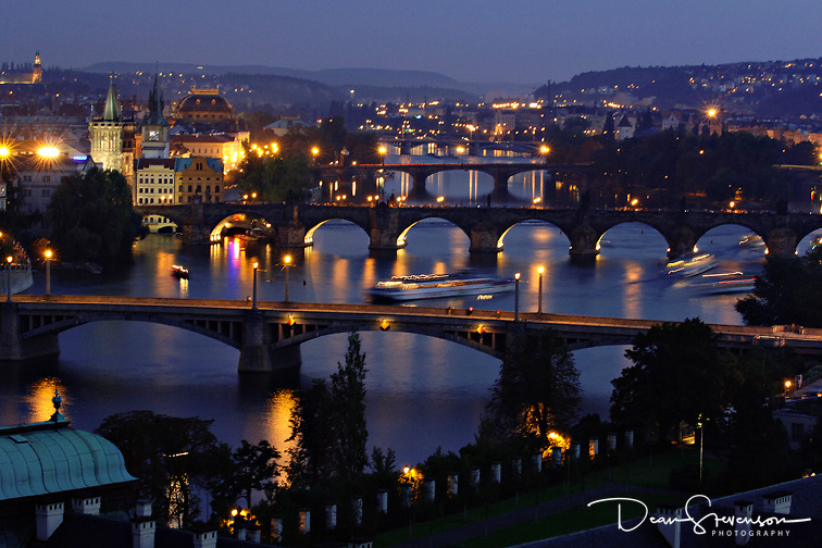 Vitava River in Prague, Czech Republic