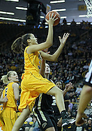 January 28, 2012: Iowa Hawkeyes forward Virginia Johnson (34) drives for a layup during the NCAA women's basketball game between the Purdue Boilermakers and the Iowa Hawkeyes at Carver-Hawkeye Arena in Iowa City, Iowa on Saturday, January 28, 2012.