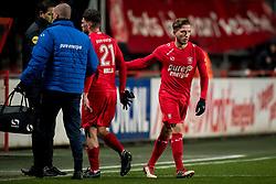 (L-R) Danny Holla of FC Twente, Jelle van der Heijden of FC Twente during the Dutch Eredivisie match between FC Twente Enschede and Willem II Tilburg at the Grolsch Veste on March 17, 2018 in Enschede, The Netherlands