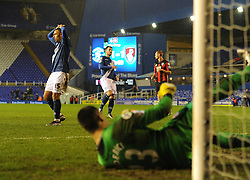 James Vaughan of Birmingham City  Looks dejected after missing a penalty. - Mandatory byline: Alex James/JMP - 09/01/2016 - FOOTBALL - ST Andrew's Stadium - Birmingham, England - Birmingham City v AFC Bournemouth - FA Cup Third Round