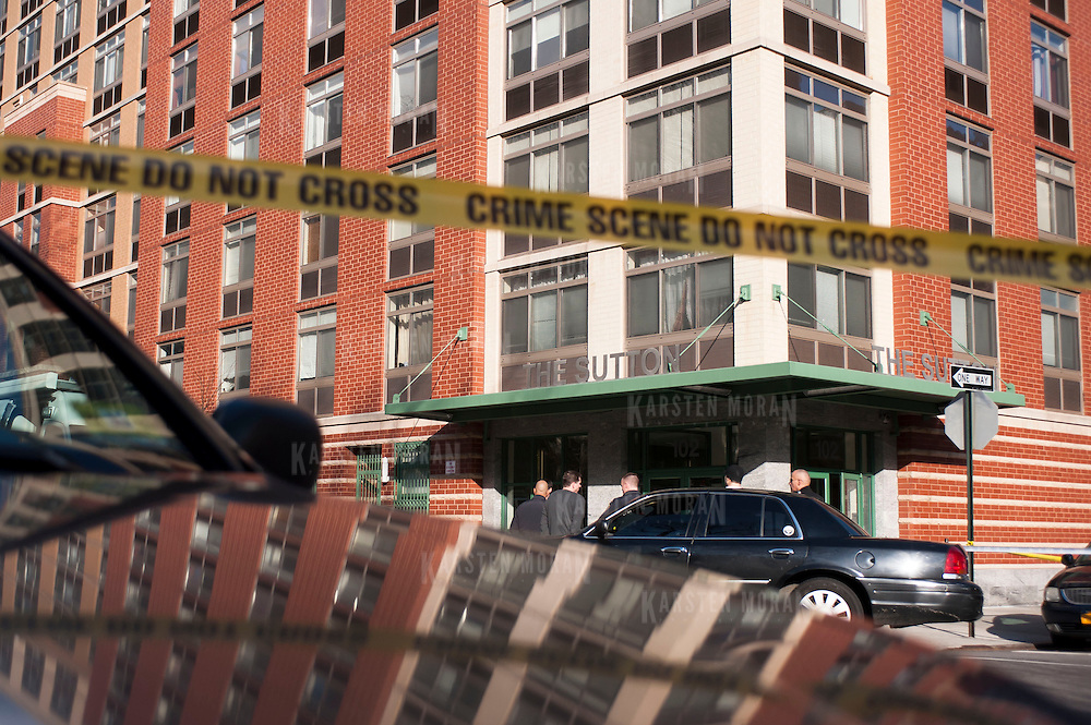 March 13, 2013 - New York, NY : Images from the scene at 102 Bradhurst Avenue (The Sutton), near W. 147th Street, where a woman and her infant child fell from an eighth story window on Wednesday afternoon. CREDIT: Karsten Moran for The New York Times