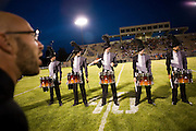The Oregon Marching Band competes in their final show of the season in Traverse City, Michigan on July 11, 2008.