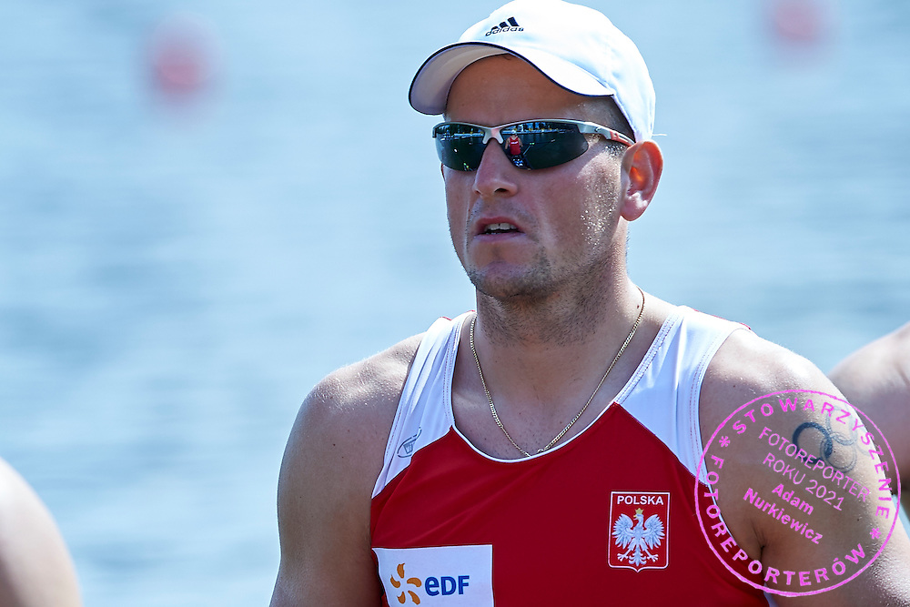 Piotr Hojka from Poland competes at Man&rsquo;s Four (M4-) during first day the 2015 European Rowing Championships on Malta Lake on May 29, 2015 in Poznan, Poland<br /> Poland, Poznan, May 29, 2015<br /> <br /> Picture also available in RAW (NEF) or TIFF format on special request.<br /> <br /> For editorial use only. Any commercial or promotional use requires permission.<br /> <br /> Mandatory credit:<br /> Photo by &copy; Adam Nurkiewicz / Mediasport